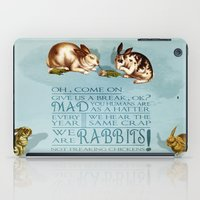 rabbits iPad Cases featuring Freaking Rabbits by Diogo Verissimo