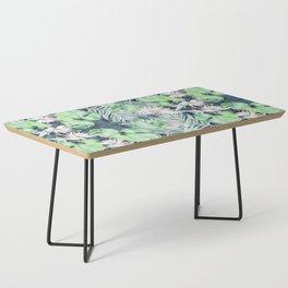 Dark Tropics Pattern by Kristen Baker Coffee Table