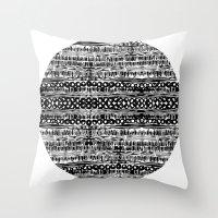 dot Throw Pillows featuring Dot by Tillytyler