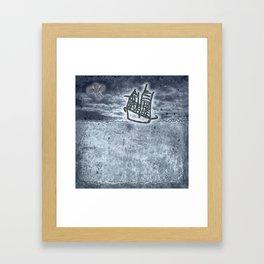 Fragata a la vista! Framed Art Print