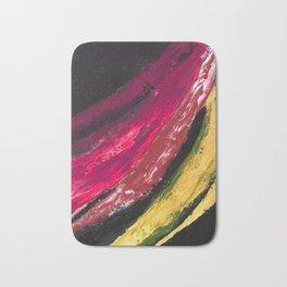 SWISH | Textured acrylic abstract art by Natalie Burnett Art Bath Mat
