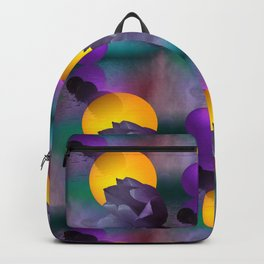 tulips and balls pattern Backpack