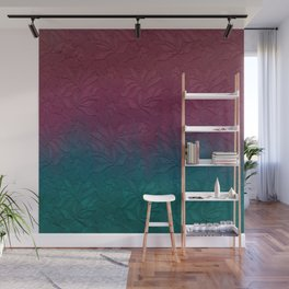 Gable green navy blue burgundy lace gradient Wall Mural