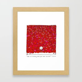 Love Is a Currency Framed Art Print