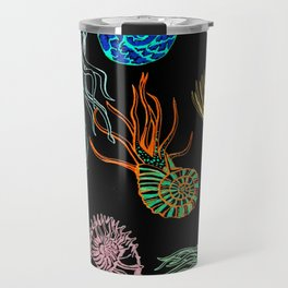 Ammonites at Night Travel Mug