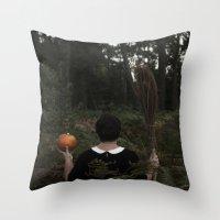hocus pocus Throw Pillows featuring Hocus Pocus by VanessaValkyria