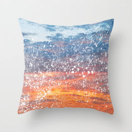 Acrylic Sunset Spatters Throw Pillow