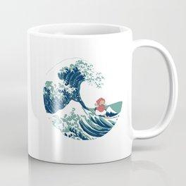 Ponyo and the great wave Coffee Mug