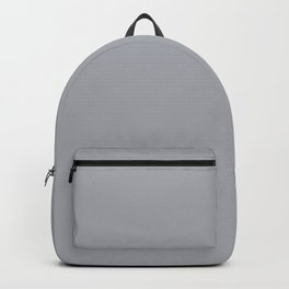 Eye Contact ~ Light Gray Feathers Backpack