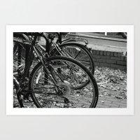 bikes Art Prints featuring Bikes  by Renatta Maniski-Luke