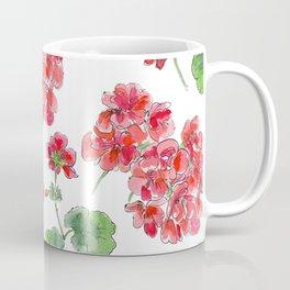 Red malvon pattern Coffee Mug