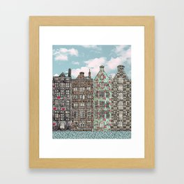 happy houses Framed Art Print