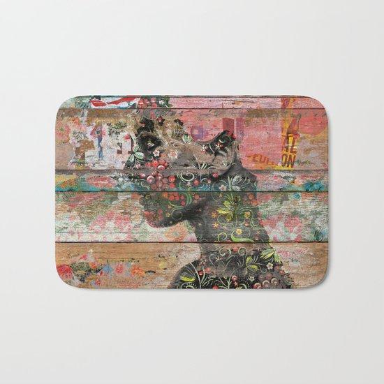 Inner Nature (Profile of Woman) Bath Mat