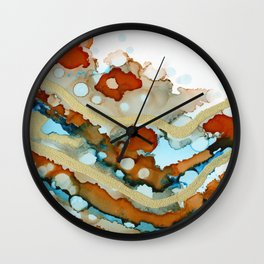 Bronzed Turquoise Wall Clock