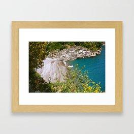 Positano Cove Framed Art Print