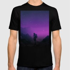 Not all those who wander are lost Black MEDIUM Mens Fitted Tee