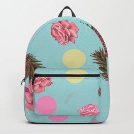 Hand drawn Avocado, roses, pineapple summer time beautiful romantic design pattern Backpack