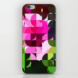 Rosas Moradas 1 Abstract Circles 1 iPhone Skin
