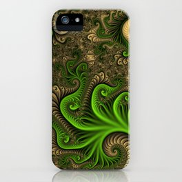 Fantasy World II, Abstract Fractal Art iPhone Case