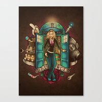bad wolf Canvas Prints featuring Bad Wolf by Omega Man 5000
