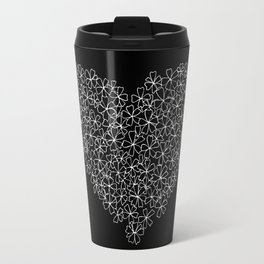 Flowers Heart - B&W Travel Mug
