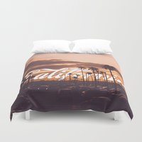 california Duvet Covers featuring California by thecrazythewzrd