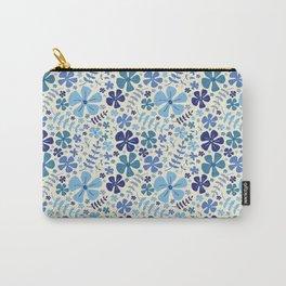 My Little Garden blue & green Carry-All Pouch