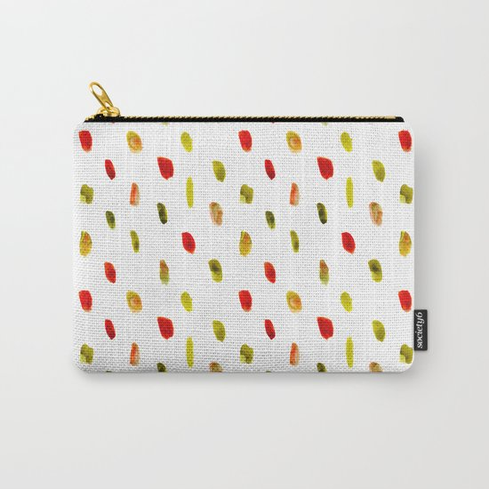 Olive and orange || watercolor brushstrokes Carry-All Pouch