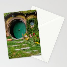 Green Magical Home, New Zealand Stationery Cards