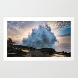 Monster Waves at Shore Acres State Park in Oregon Art Print