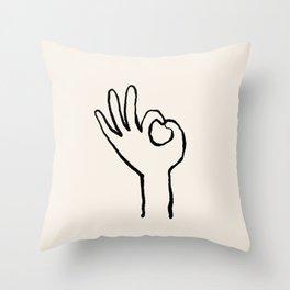 OK hand Throw Pillow