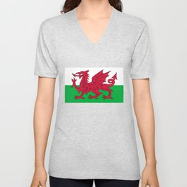 National flag of Wales - Authentic version Unisex V-Neck