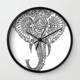 The Elephant Mask Wall Clock