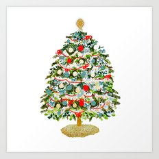 A Christmas Tree Art Print