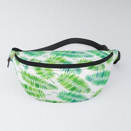 Watercolor palm leaves pattern Fanny Pack