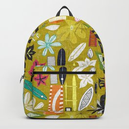 beachy yellow Backpack