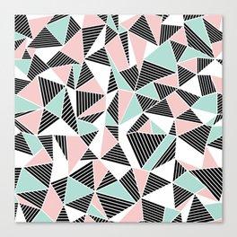 AbLines with Blush Mint Blocks Canvas Print