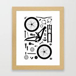 Downhill Bike Parts Framed Art Print