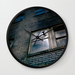 Blue Street Abstracts 4 Wall Clock