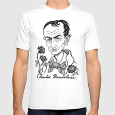 Charles Baudelaire  Mens Fitted Tee White SMALL