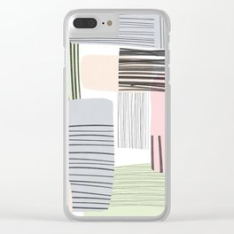 Abstract Pastels Clear iPhone Case