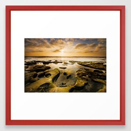 La Jolla Horseshoe Sunset Framed Art Print