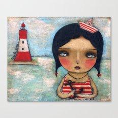 Anchor Girl Canvas Print
