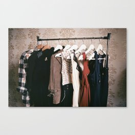 You can never get a wardrobe large enough Canvas Print