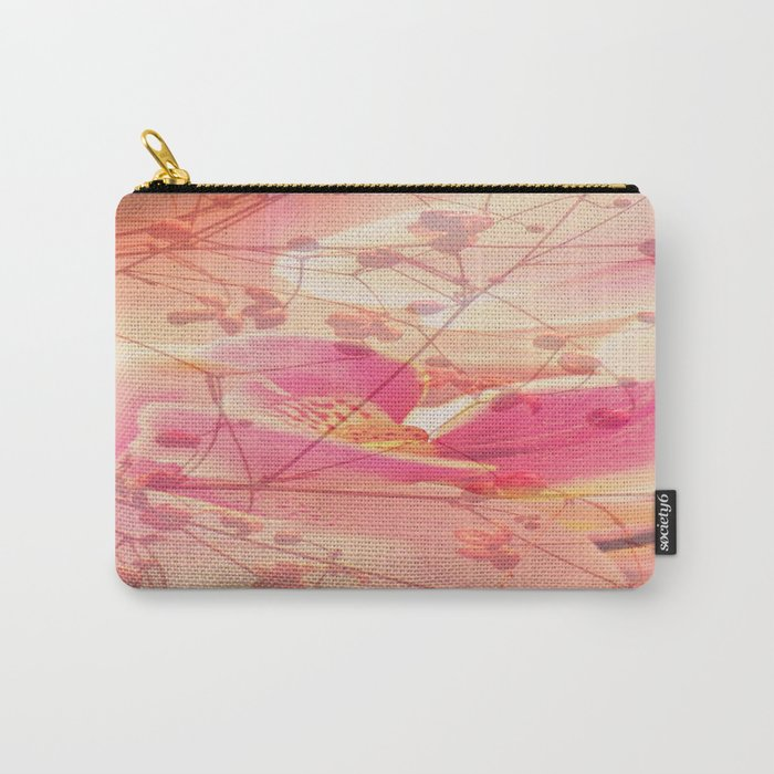Lightfull Orchid behind little Flowers Carry-All Pouch