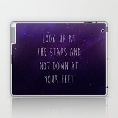 Look Up At The Stars Motivational Quote Laptop & iPad Skin