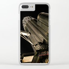 Petronas Twin Towers Clear iPhone Case