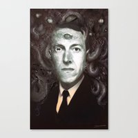 lovecraft Canvas Prints featuring H.P. Lovecraft  by MATT DEMINO