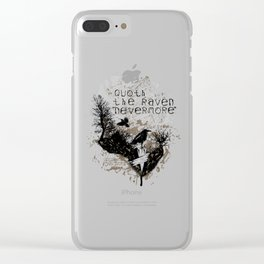 Edgar Allan Poe The Raven Nevermore Gothic Literature Clear iPhone Case