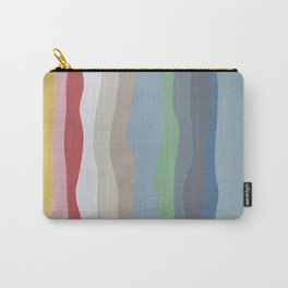 Colorful Ocean Wavy Stripe Painting by Christie Olstad Carry-All Pouch